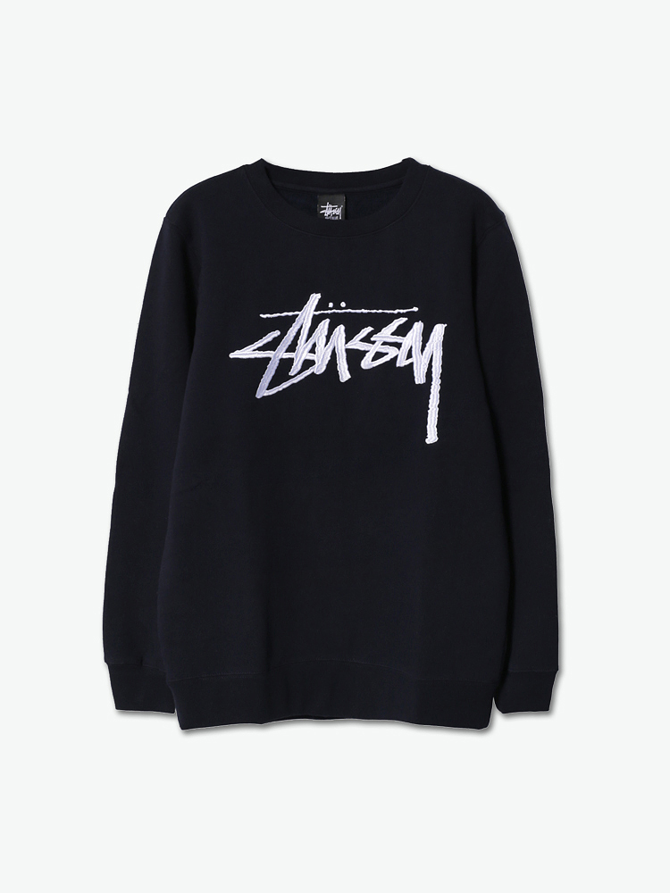 stussy logo刺绣卫衣