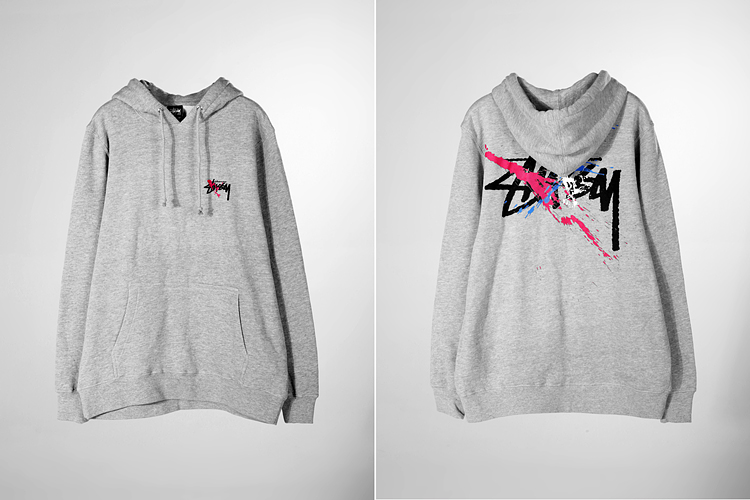 stussy 卫衣|stussy logo泼墨印花卫衣