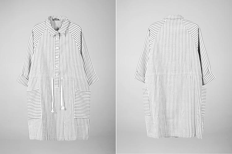 服装手绘图条纹