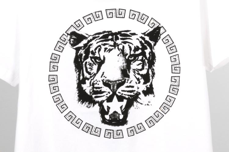 koyo 虎头图案短袖t恤
