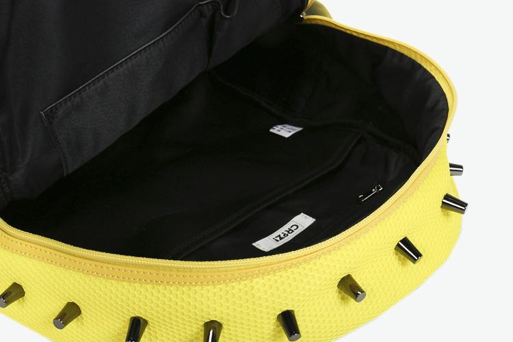 crz 双肩包|crz 铆钉织物双肩包 黄色正品 |yoho!buy图片