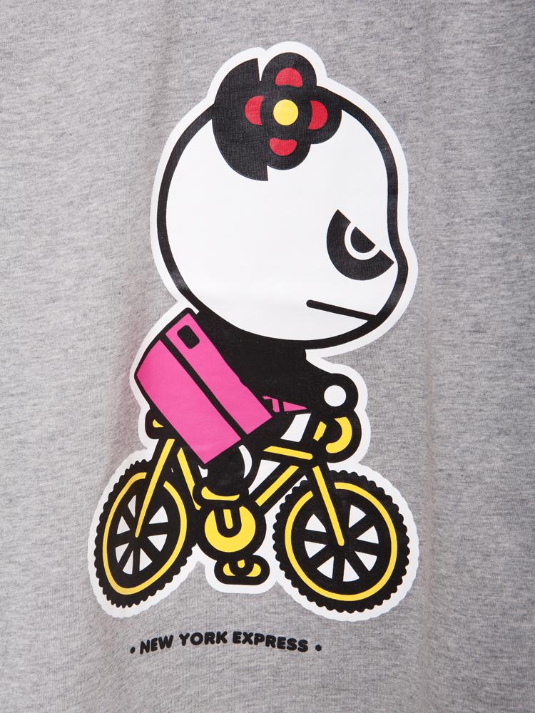 卡通画 骑自行车; hipanda