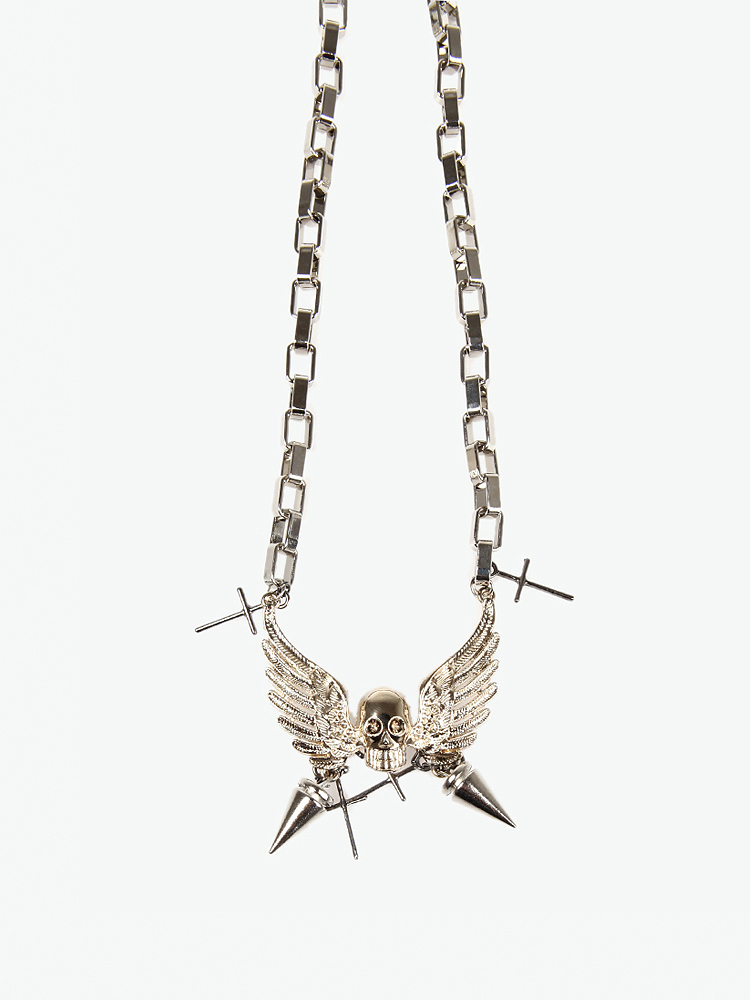 josie chen 首饰 josie chen 金色翅膀与十字架铆钉