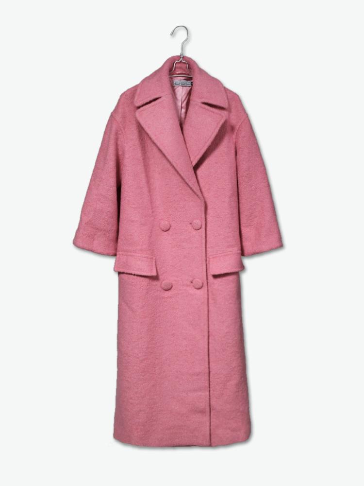 粉色的加长风衣