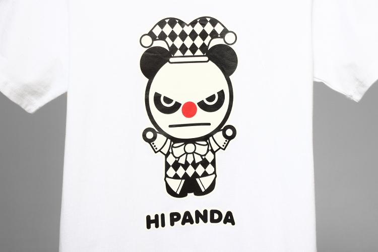 hipanda 男款白色圆领小丑短袖t