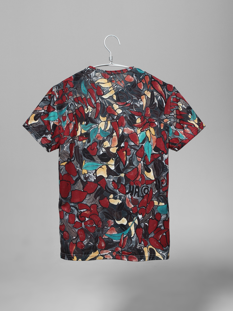 男款时尚手绘图案短袖t正品
