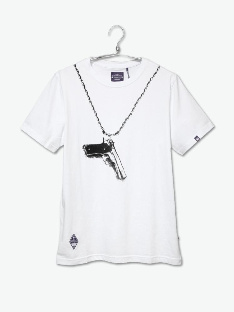 teebacco 手枪项链短袖t恤