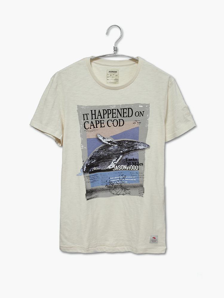 手绘t恤鲨鱼短袖