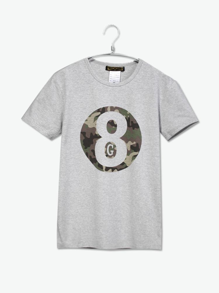 eight guys 迷彩logo印花t恤图片