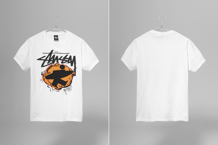 stussy pop surfman 白色短t