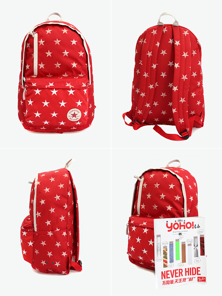 converse 红色星星图案背包