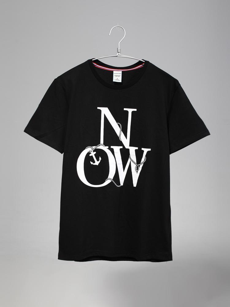th: now英文字母印花短袖t恤