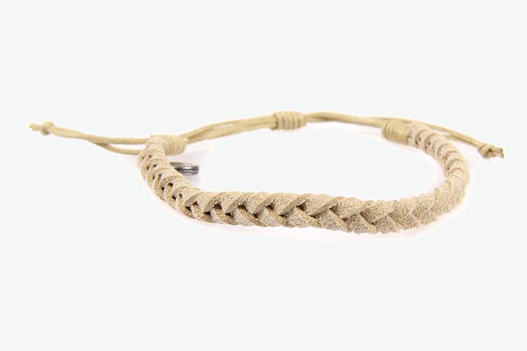 女款编织绳印花彩带手链