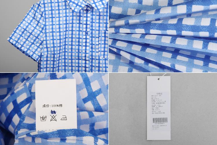 有耳uare新款黄/蓝口袋基本款格子衬衫