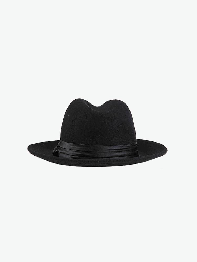 礼帽黑白人头logo素材