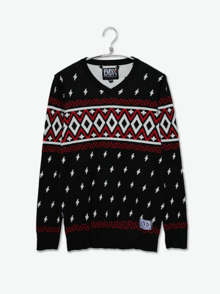 evd 毛衣/针织|evd 民族风花纹毛衣正品 |yoho!buy 有