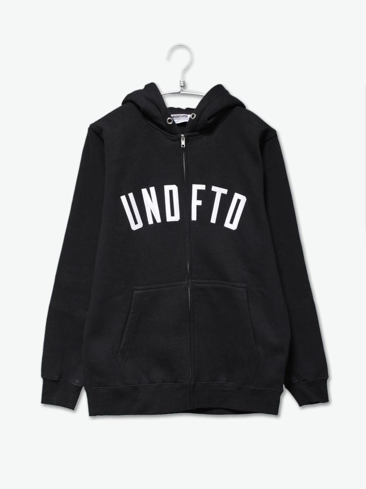 undefeated undftd arc zip hood 黑色连帽拉链卫衣