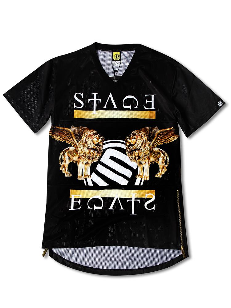 stage 金色狮子短袖t恤