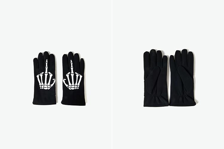 blackjack 骷髅手指印花手套