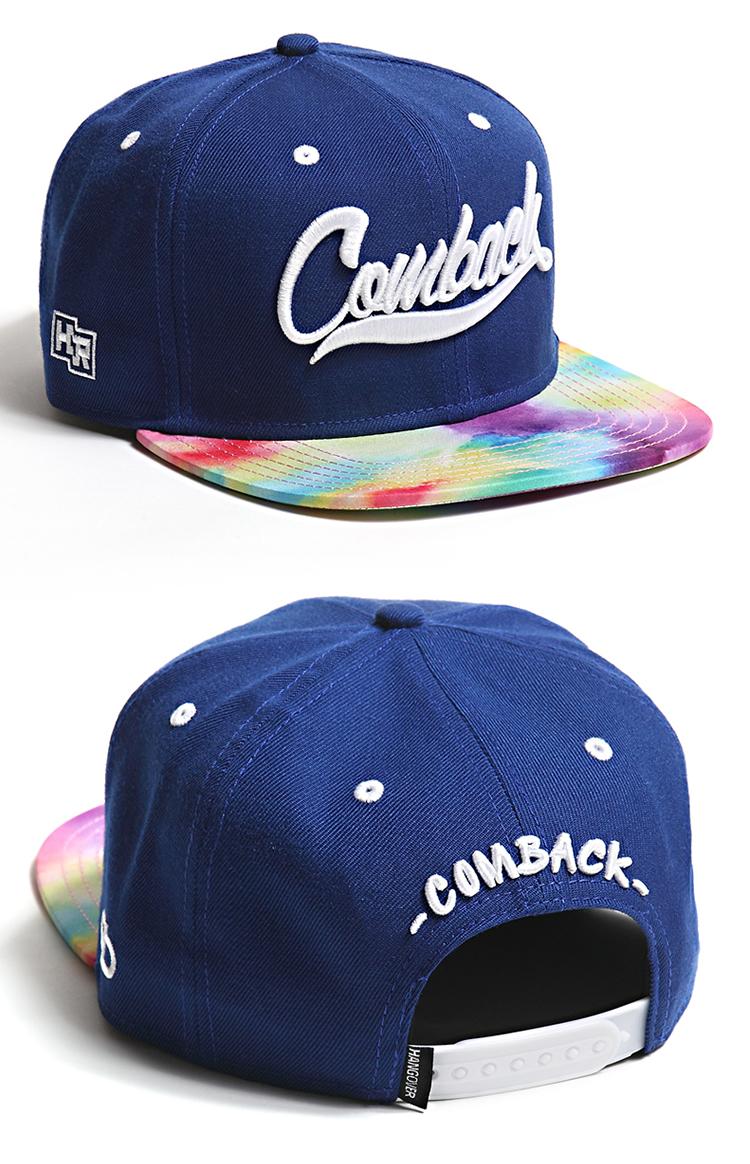 comback 帽子|comback 手绘水彩棒球帽(蓝色)正品 |!