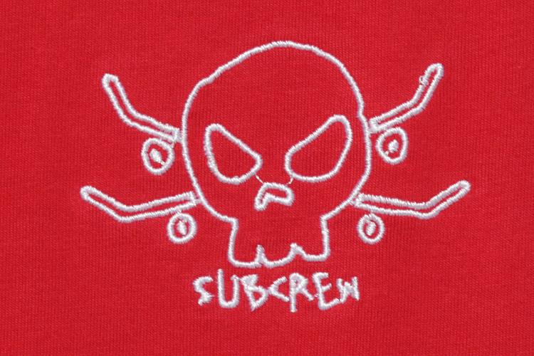 别具一格的骷髅logo 设计,给骷髅这一元素带来可爱的感觉. 红色
