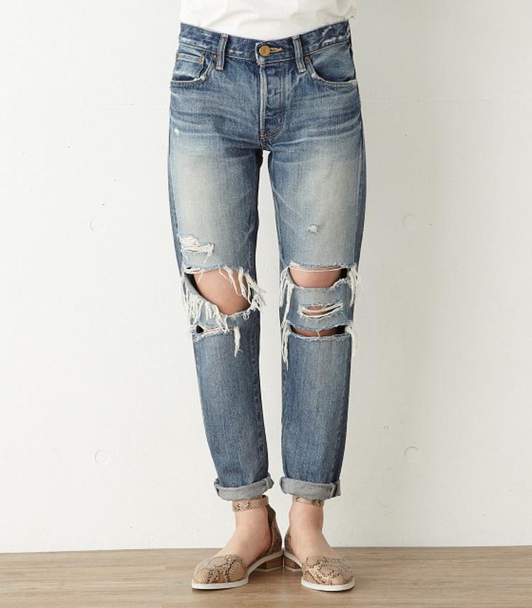 moussy 时尚破洞牛仔裤