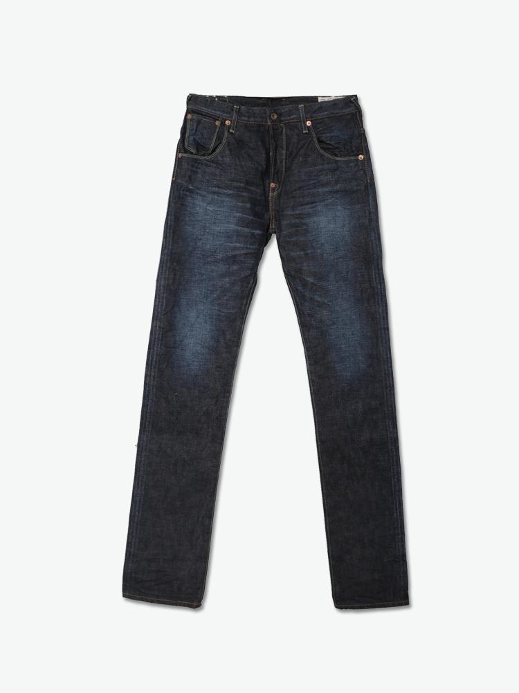 牛仔裤|evisu 男款经典logo水洗牛仔裤正品