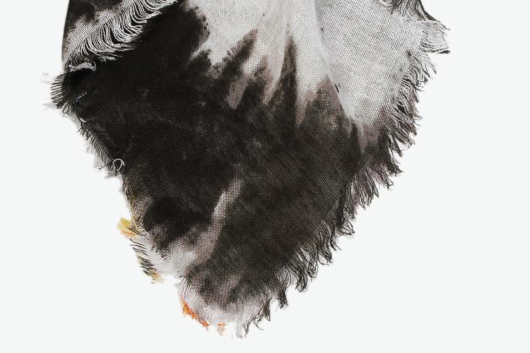 mango 民族风扎染围巾 灰色