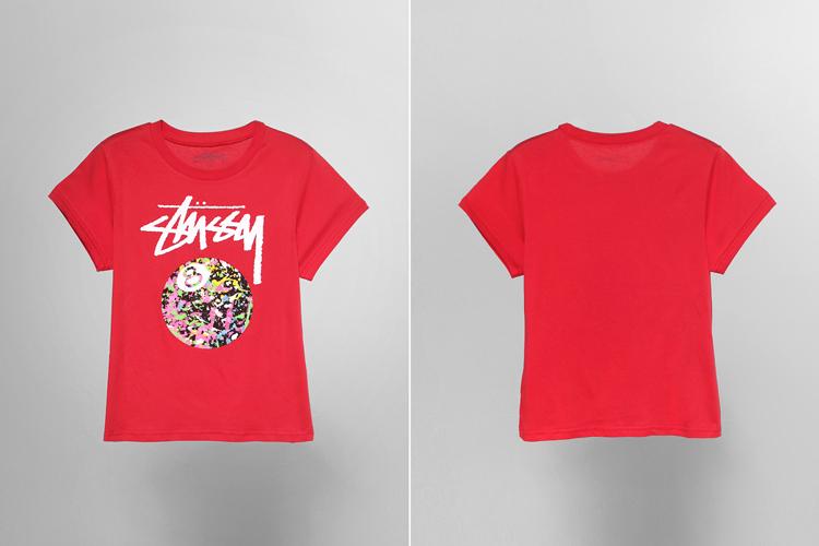 stussy logo图案印花 t恤图片