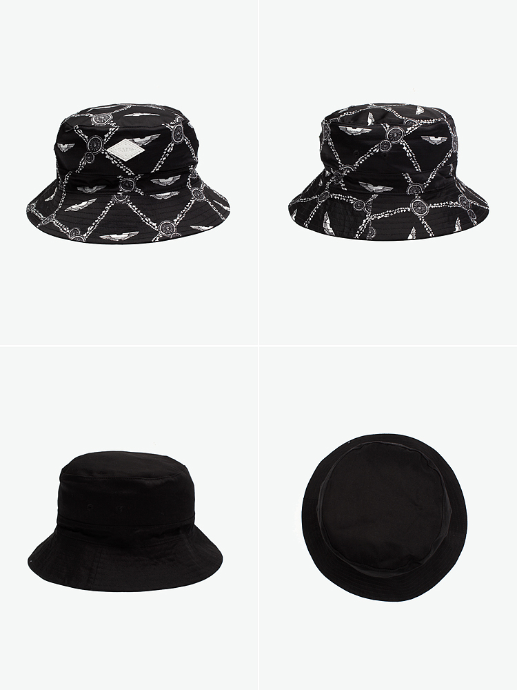 gaws cap 帽子|gaws 嘻哈风印花渔夫帽 (双面佩戴)