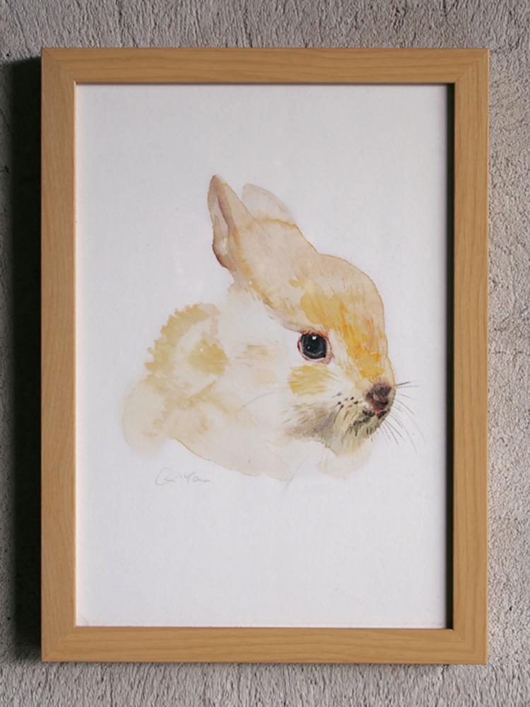 slow 居家|slow 原创艺术系列-丘雅水彩画 《兔子》画